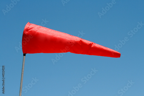 Windsock and clear sky