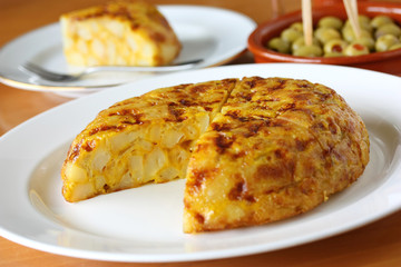 tortilla, spanish omelet
