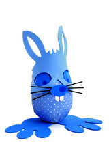 Blue Easter bunny egg