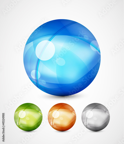 Glass sphere icons