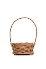 Empty wicker basket for Easter