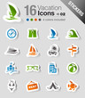 Detaily fotografie Stickers - Vacation icons