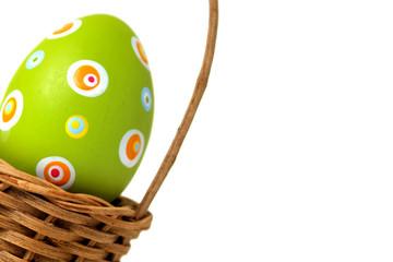 Single Easter egg from corner