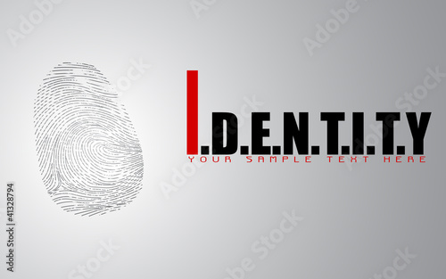 Finger Print on Identitiy Background