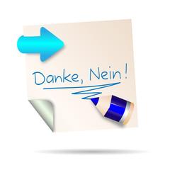 post it - danke nein