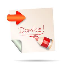 post it - danke