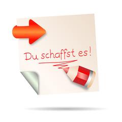 post it - du schaffst es