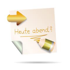 post it - heute abend?