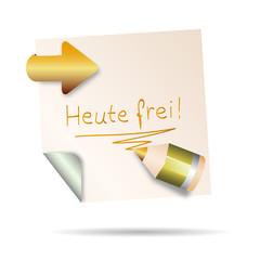 post it - heute frei