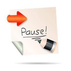 post it - pause