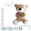 gratulation - bär mit blumen