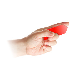 hand - finger mit pfeil