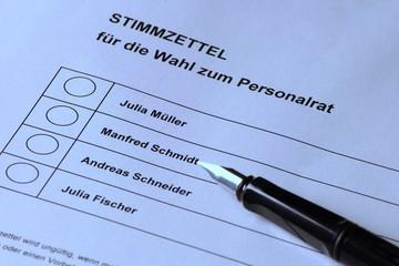Stimmzettel Personalrat 2
