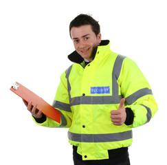 Happy security guard