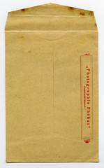 eski fotoğraf zarfı motifi