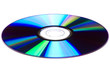 CD/DVD disk over white