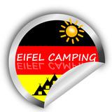 Sticker- Eifel Camping poster