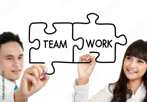 man and woman business teamwork