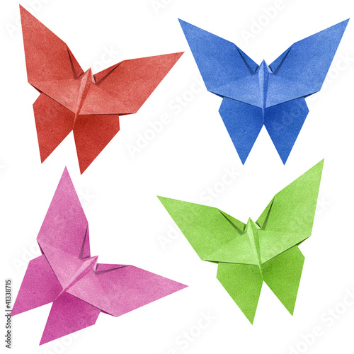 Origami butterfly  Recycle Papercraft - 41338715