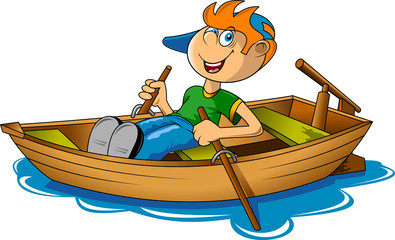 boy and boat