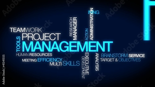 Project Management tag cloud animation video