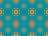 Blue Retro Floral Pattern