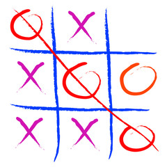 tic tac toe game illustration