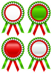 4 Different Award Badges Italy