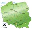 Karte von Polen mit Fussball-Austragungsorten