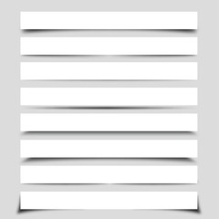 Collection of Vector Box Shadows