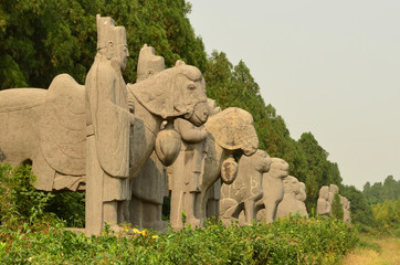 Tombs of Song Dynasty, west of Zhengzhou, China