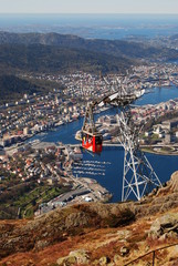 cable car at Ulriken Bergen Norway