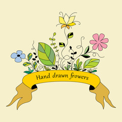 Hand drawn flowers 1 (color)
