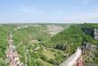 Vista desde el Castillo de Rocamadour . Francia..