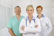 Hospital team: Doctors and surgeon