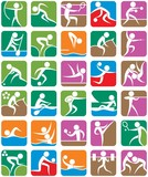 Summer Sports Symbols – Colorful poster