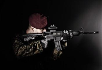 paratrooper soldier portrait