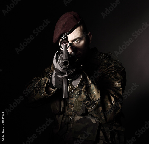 paratrooper soldier portrait
