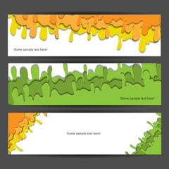 Creative colorful modern nature banner set