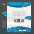 Creative colorful modern  web design