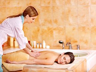 Massage  in hammam or turkish bath.
