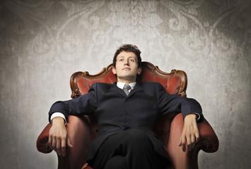Serene businessman