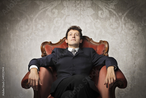 Serene businessman
