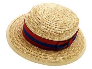 School Straw Boater Hat
