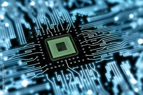 Leinwanddruck Bild motherboard