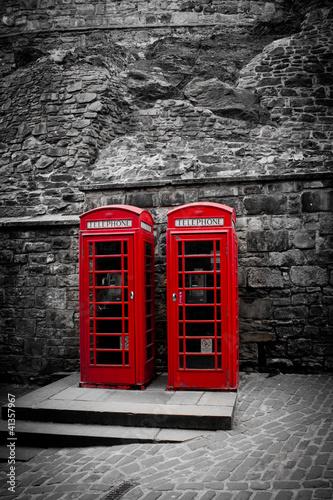 Cabine téléphonique Anglaise - 41357967