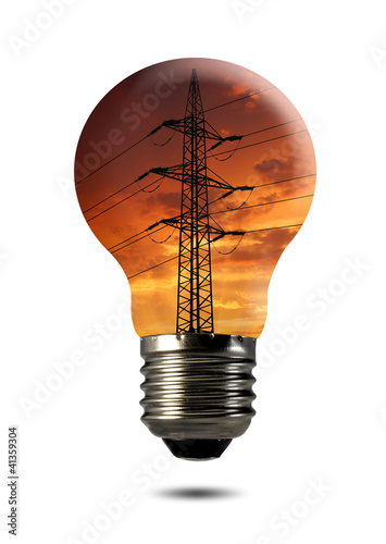 Bulb with  power line