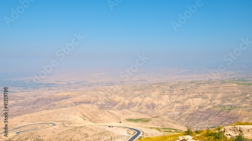 View on Jordan valley from Mount Nebo