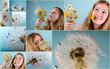 Collage: Ganz viele Wünsche ...
