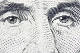 Lincoln's Eyes Extreme Macro US Five Dollar Bill
